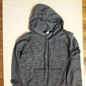 Boys Old Navy Grey Hoodie Zip-up Sweater Size Extr